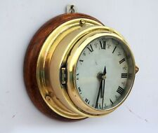 Germany 1900's Maritime Wall Clock Vintage Navigation Brass Bulkhead
