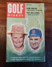 1960 GOLF DIGEST MAGAZINE SAM SNEAD TED WILLIAMS GREAT CONTENT NICE