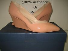 $260 NEW Pour La Victoire US 6 Marjorie Pointy Toe Wedge High Shoes Pink Nude BX