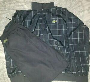 LaCoste Tennis Andy Roddick Track Sweat Suit Jacket Pants Rare Men Size 7 XL