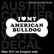 "6.5"" AMERICAN BULLDOG vinyl decal car window laptop sticker - dog breed rescue"