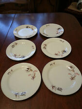 VINTAGE BAVARIA CHINA TIRSCHENREUTH 100 GERMANY SET OF 6 BREAD & BUTTER PLATES