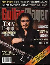 GUITAR PLAYER September 2013 TONY IOMMI Guthrie Govan Robben Ford Greg Koch