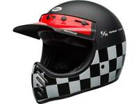 Casque motocross vintage BELL Moto-3 Fasthouse Checkers Noir Blanc Rouge