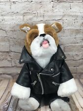 BUILD-A-BEAR boxer harley davidson faux leather jacket and jeans