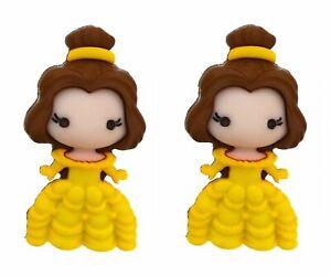 2 pcs. Disney Belle Buttons Jesse James Dress It Up Embellishments