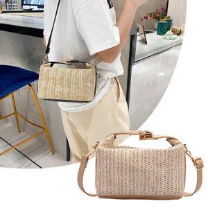 Women Fashion Handbags Straw Tote Bag Summer Shoulder Bag Ladies Cross Body Bag