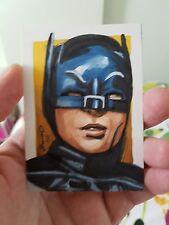TV BATMAN ADAM WEST HAND DRAWN SKETCH CARD BY JONATHAN D GORDON ORIGINAL ART PSC