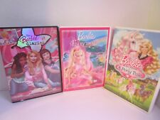 3 Barbie DVDs Barbie Diaries, Barbie Fairytopia, Barbie & Sisters In A Pony Tale