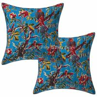 Home Decor Kantha Throw Pillows Cover Indian Cotton Cushion Cover Set 2ps 16""