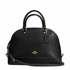 Coach F37218 Sierra Satchel Dome In Crossgrain Leather Black Dome Purse NWT