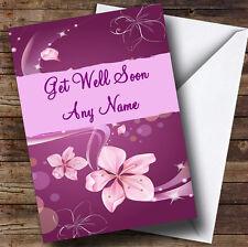 Purple Personalised Get Well Soon Greetings Card