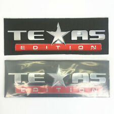 2*Texas Edition NamePlate for Fender Hood Bumper Door GMC SIERRA CHEVY SILVERADO