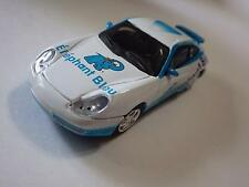 High Speed White/Light Blue Porsche 911 Carrera Coupe Elephant Bleu Diecast