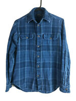 Polo Ralph Lauren Flannel Button Up Shirt Mens XS Blue Plaid Cotton Long Sleeve