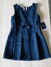Izod Girls Navy School Uniform Jumper Dress Size L/G 6 Regular New