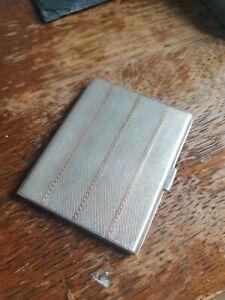 Quality Art Deco Silver & Gold Card / Cigarette Case, William Neale, B'ham, 1923