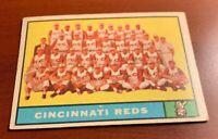 1961 Topps # 249 Cincinnati Reds Team Baseball Card