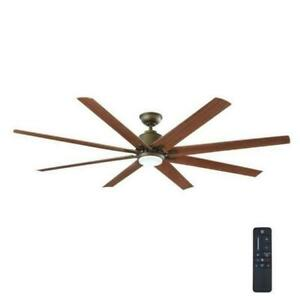Home Decorators Kensgrove 72 in. LED In/outdoor Espresso Bronze Ceiling Fan New