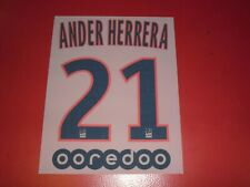 Name set flocking official ander herrera psg third (Bl) league jersey 1 2019/202.