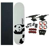 ENJOI Skateboards WHITEY PANDA Complete SKATEBOARD New! Black Trucks 52mm Wheels