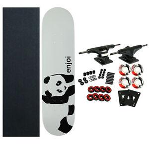 ENJOI Skateboards WHITEY PANDA Complete SKATEBOARD New! Black Trucks 52mm Wheels