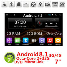 "7"" Car Android 8.1 4G Stereo Radio 2DIN 2G RAM GPS MP3 DVD Player Octa-Core DAB"