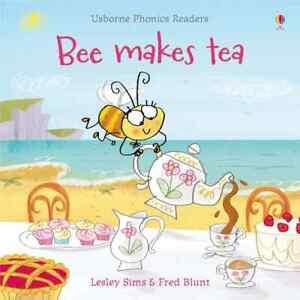 Bee Makes Tea by Lesley Sims & Fred Blunt Paperback New Usborne Phonics Reader
