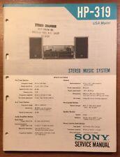 SONY HP-319 STEREO MUSIC SYSTEM ORIGINAL SERVICE MANUAL P228