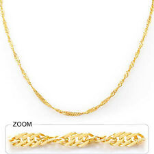 "3.40 gm 14k Gold Yellow Women's Singapore Polished Chain Necklace 20"" 1.70 mm"