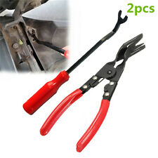 2p Car Door Upholstery Trim Clip Removal Pliers & Tool Combo Dash Panel Moulding