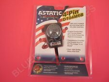 Astatic D104M6B Ceramic Amplified Power 4-Pin CB Radio Microphone