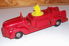 Old Louis Marx & Co USA Plastic Toy Fire Engine Truck Vintage Friction Motor Red