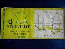 Carte NEOUVIELLE - IGN- Parc national Pyrénées - 1/25 000