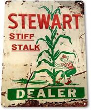 Stewart Dealer Stiff Stalk Corn Metal Decor Farm Shop Feed Store Sign