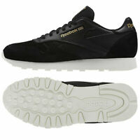 Reebok Mens Classic CL Leather Tonal Suede Trainers Retro Fashion Sneakers Black