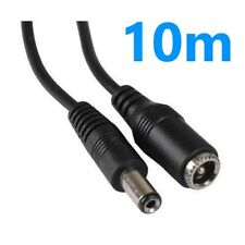 10m DC Power Extension Cable/Lead -CCTV Camera DVR-Plug to Socket 5.5mm x 2.1mm