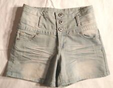 Junior Women Blue Asphalt Denim Daisy Duke Shorts Size 5