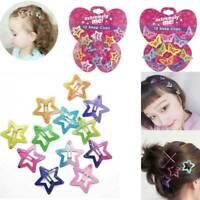 12Pcs BB Clips Butterfly Star Glitter Kids Girls Hairpin Hair Clip Grip Cute