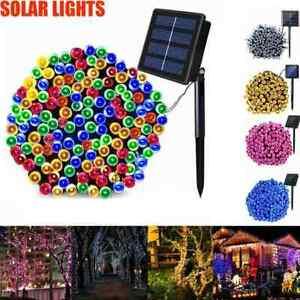 200/500 LED Outdoor Solar Powered String Lights Garden New Fairy Yard 2020