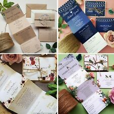Personalised Wedding Invitations Invites With Envelopes Or Evening Reception
