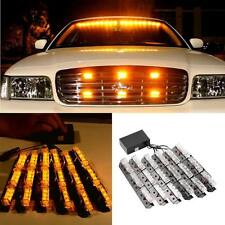 54 LED Yellow Car Emergency Hazard Strobe Flash Warning Light Deck Dash Grille