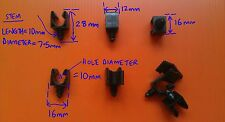 FIX8K 10mm SINGLE HOLE FIR TREE PIPE CABLE CLIP CAR TRIM  PANEL FIXING x12