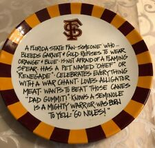 T Cabells Too  FSU Florida State University Round Serving Bowl/ Dish Fast FedEx