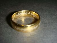 Lord of the Rings one ring precious engraved plated metal 19mm diameter new