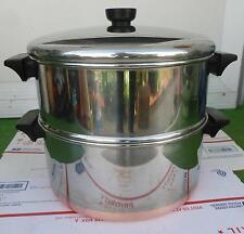 Revere Ware*Double-Boiler-STeamer*Stock Pot*6 qts*1801*Rome-NY*Copper*RARE*OBO !