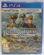 SUDDEN STRIKE 4 LIMITED DAY ONE EDITION - SONY PS4 - NEW SEALED - PLAYSTATION 4