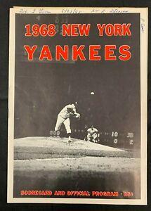 1967 NEW YORK YANKEES TIGERS BASEBALL PROGRAM/SCORE CARD SCORED W/TICKET 121219