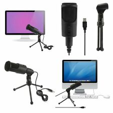 Computer USB Studio Condenser Microphone PC Recording Mic with Tripod Mount