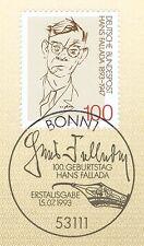 BRD 1993: Hans Fallada n. 1683 con potabile Bonner solo tag timbro! 1a! 1701